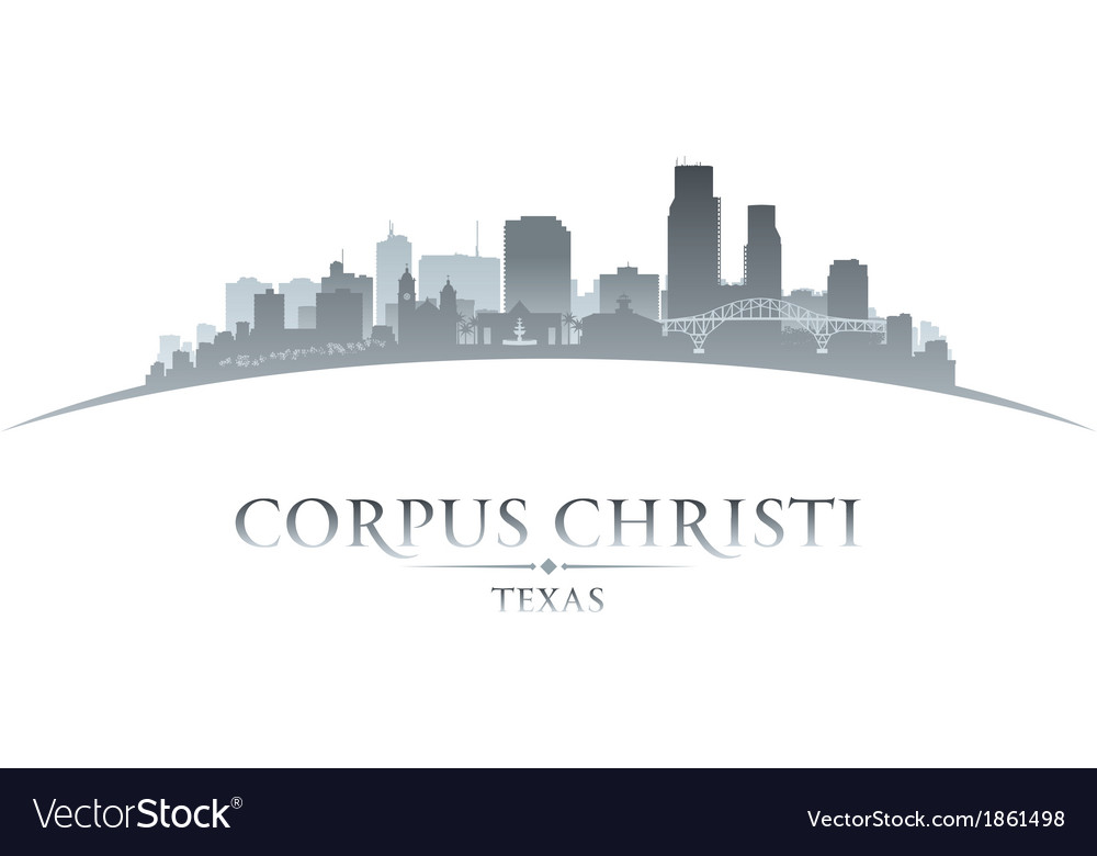 Corpus christi texas city skyline silhouette7 vector | Price: 1 Credit (USD $1)