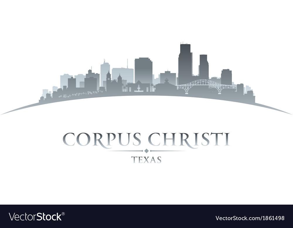 Corpus christi texas city skyline silhouette7 vector | Price: 1 Credit (USD $1)