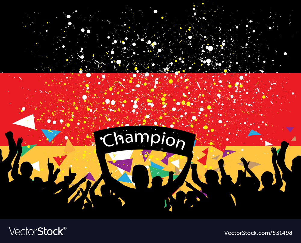 Crowd cheer germany vector | Price: 1 Credit (USD $1)