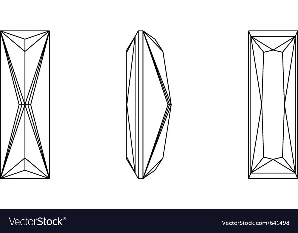 Gemstone wire frame vector | Price: 1 Credit (USD $1)
