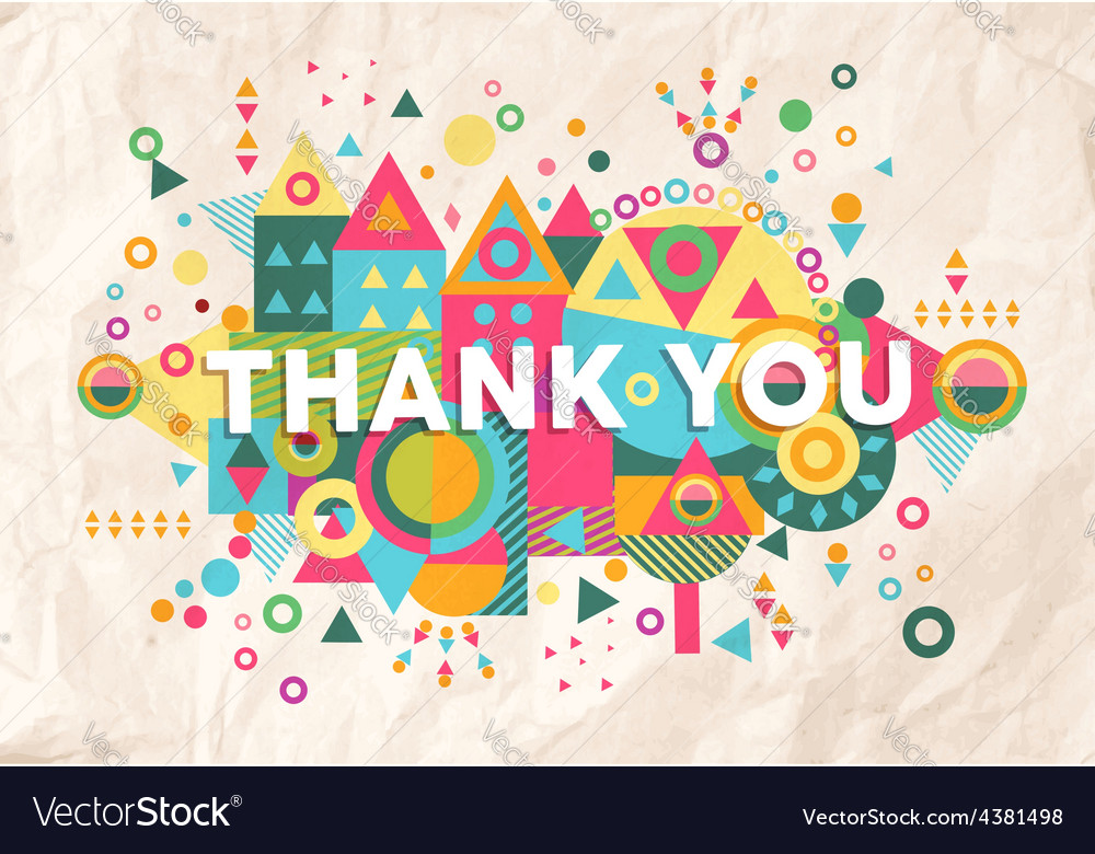 Thank you quote poster design background vector | Price: 1 Credit (USD $1)
