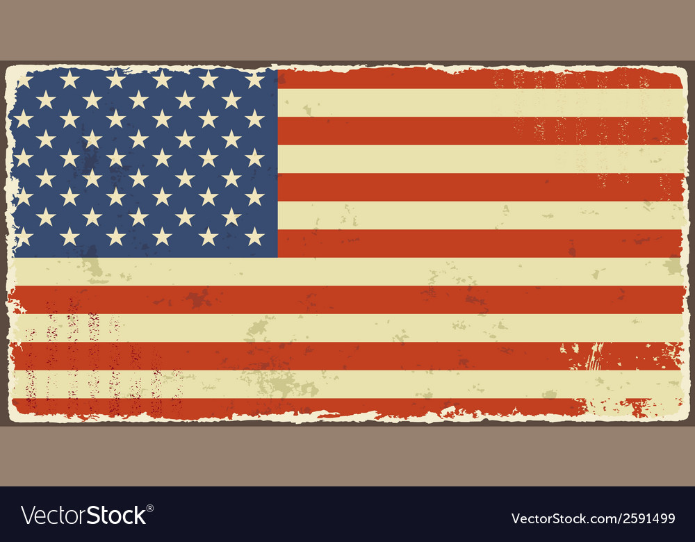American grunge flags vector | Price: 1 Credit (USD $1)