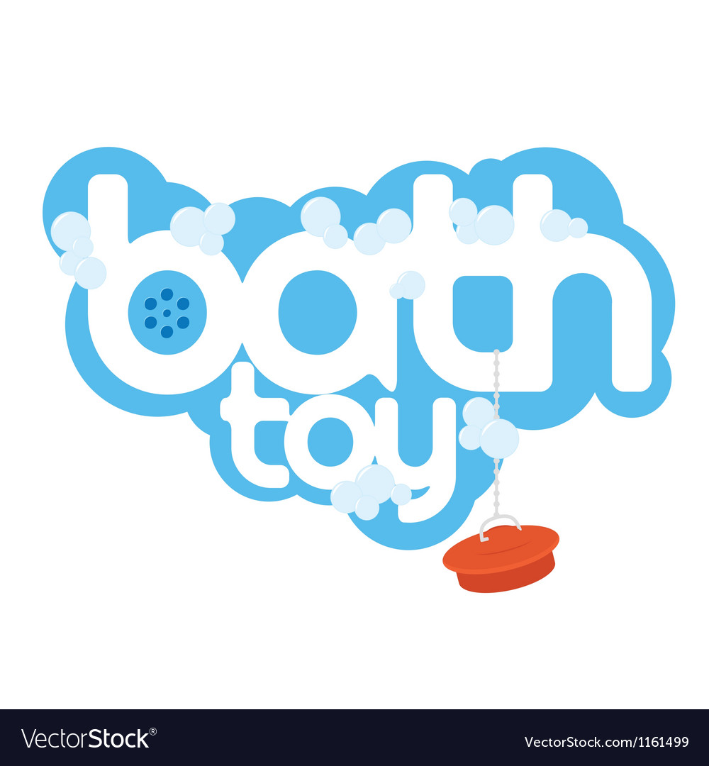 Bath toy package design element vector | Price: 1 Credit (USD $1)