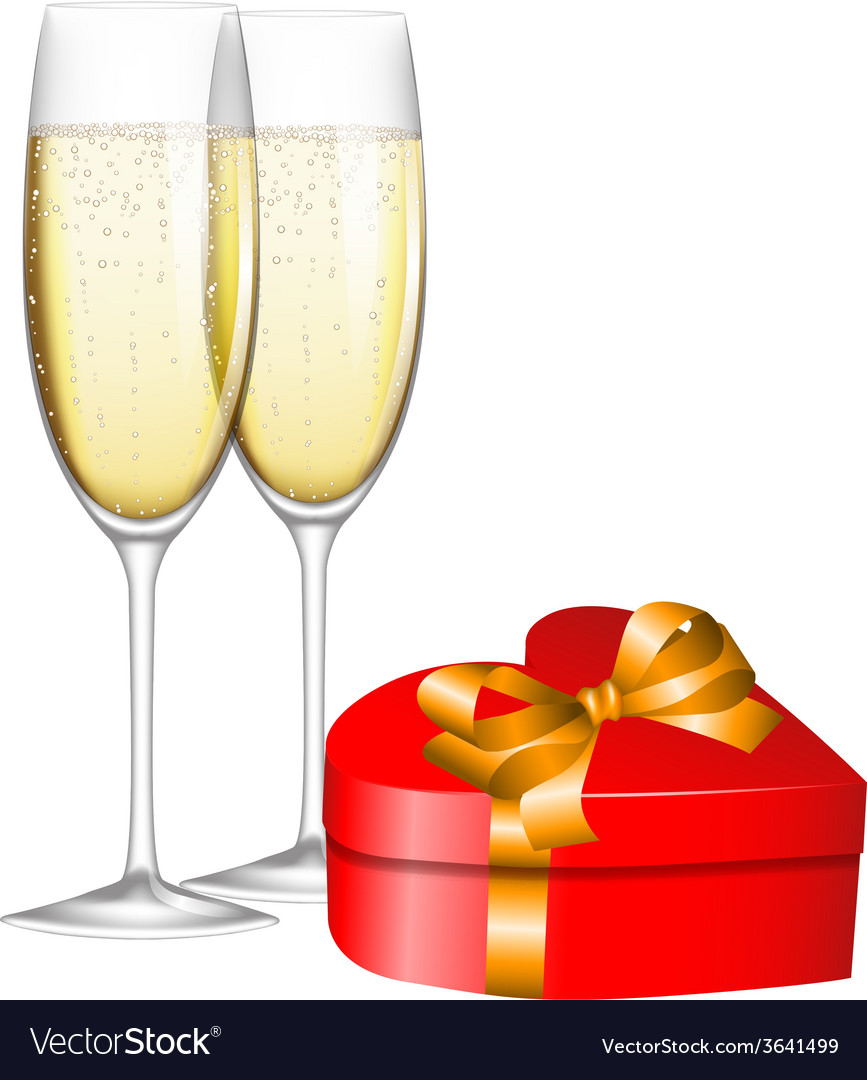 Champagne and gift vector   Price: 1 Credit (USD $1)