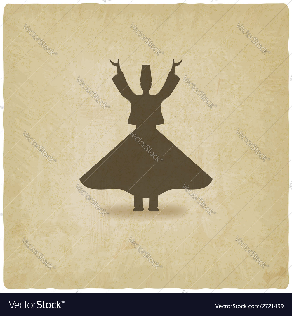 Dervish dancer old background vector | Price: 1 Credit (USD $1)