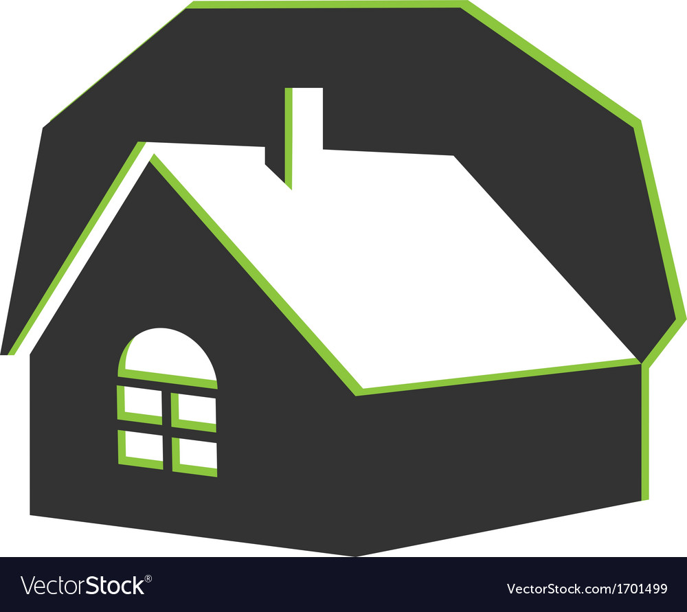 House real estate icon vector | Price: 1 Credit (USD $1)