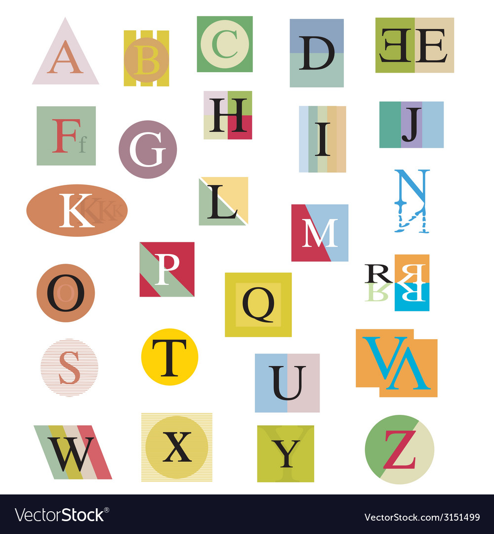 The original alphabet from bright abstract letters vector | Price: 1 Credit (USD $1)