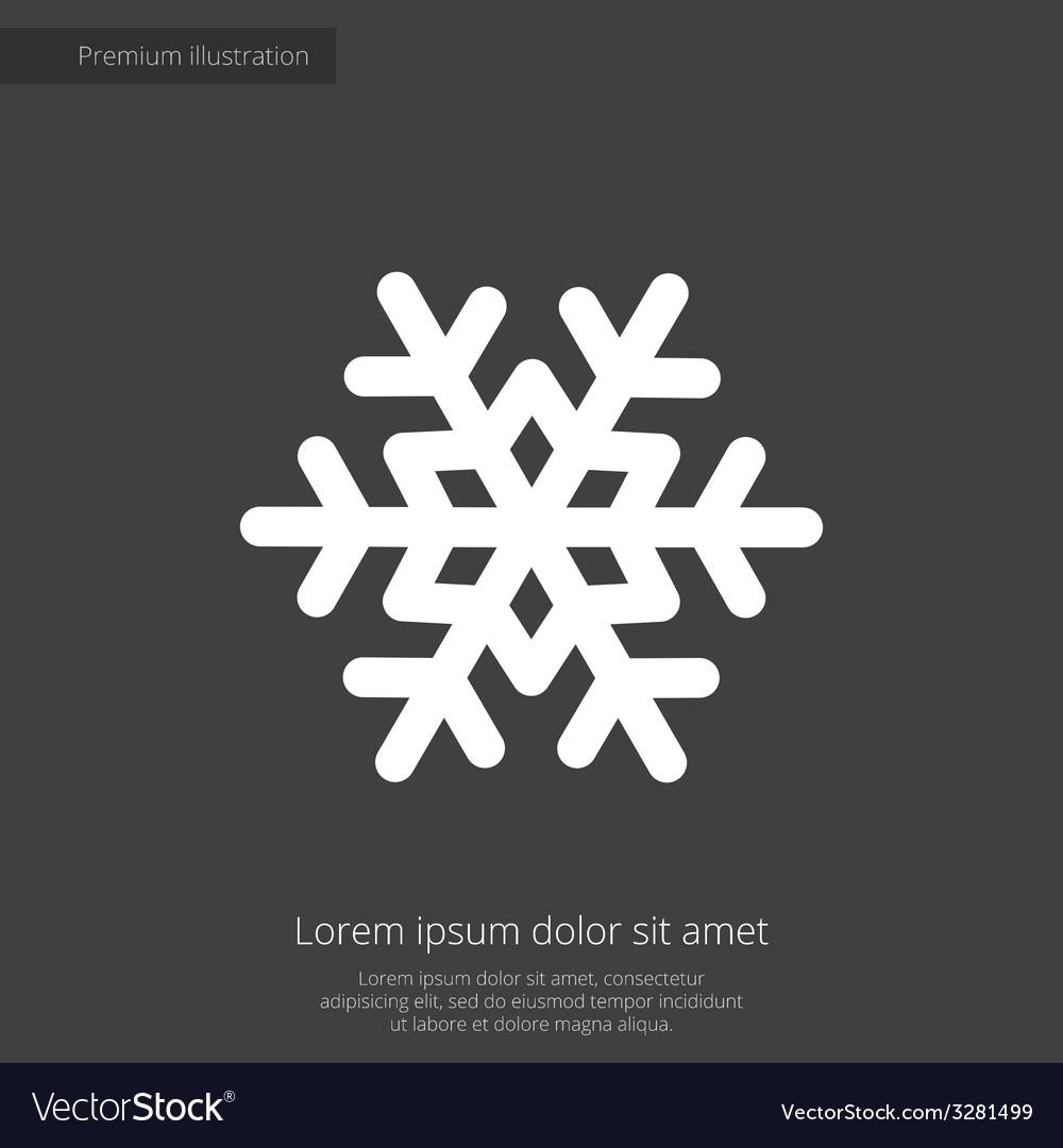 Snowflake premium icon white on dark background vector | Price: 1 Credit (USD $1)