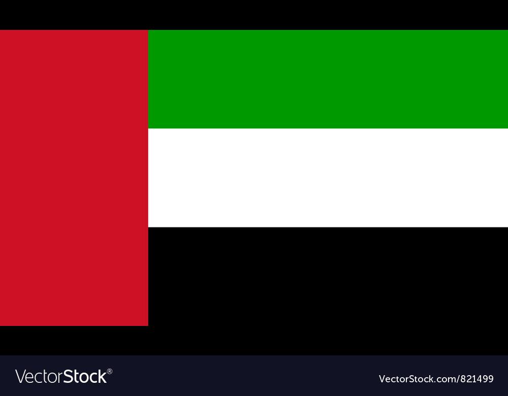 United arab emirates flag vector | Price: 1 Credit (USD $1)