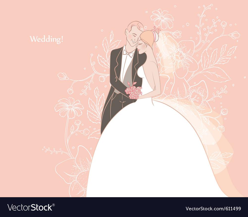 Wedding couple back vector   Price: 3 Credit (USD $3)