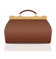 Leather valise travel with constipation 01 vector