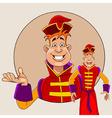 Cartoon character fairy tale prince vector