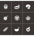Diet icon set vector