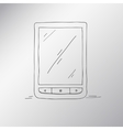 E-book hand-drawn an electronic device for reading vector