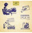 Vintage communication set vector