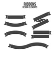 Ribbons design elements vector