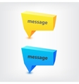 Colorful 3d geometric speech bubbles vector