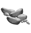 Grey big rocks vector