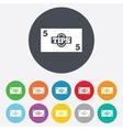 Tips sign icon cash money symbol vector