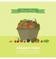 Banner with nuts and berries vector