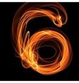 Digit in fire vector