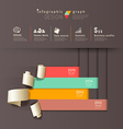 Infographics graph paper roll vertical design vector