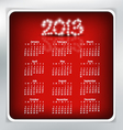 Simple 2013 year calendar vector
