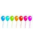 Set colorful balloons isolated on white background vector