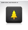 Tree icon gold vector