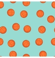 Sports seamless pattern with basketball icons in vector