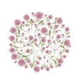 Spring floral frame for your design vector