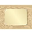 Golden plate vector
