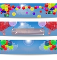 Set of banners with balloons vector