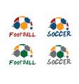 Football and soccer vector