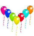 Holiday background with party balloons space for vector