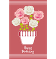 Birday card with colorful roses vector