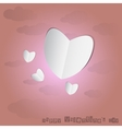 Paper heart with pink background vector