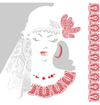 Beautiful woman with tracery clothes vector