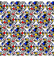 Design seamless colorful mosaic geometric pattern vector