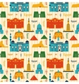 Landmarks of egypt seamless pattern vector