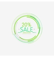 Minimal line design shopping stamps sale vector