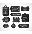 Chalkboard hand written vintage invitation vector
