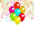 Set colorful balloons and confetti for your party vector