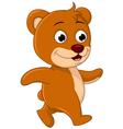 Cute bear cartoon walking vector