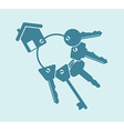 House keys bunch vector