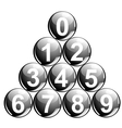 Balls with numbers vector