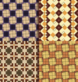 Retro square patterns background vector