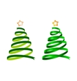 Christmas ribbon trees vector