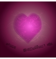 Pink heart shape with background vector