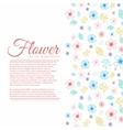 Flower background concept vector